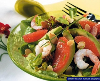 Avocado, Shrimp and Grapefruit Salad