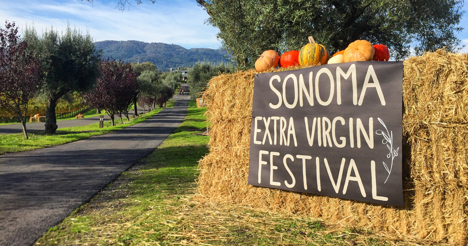 Sonoma Extra Virgin Festival Sign Outside of the Tasting Room